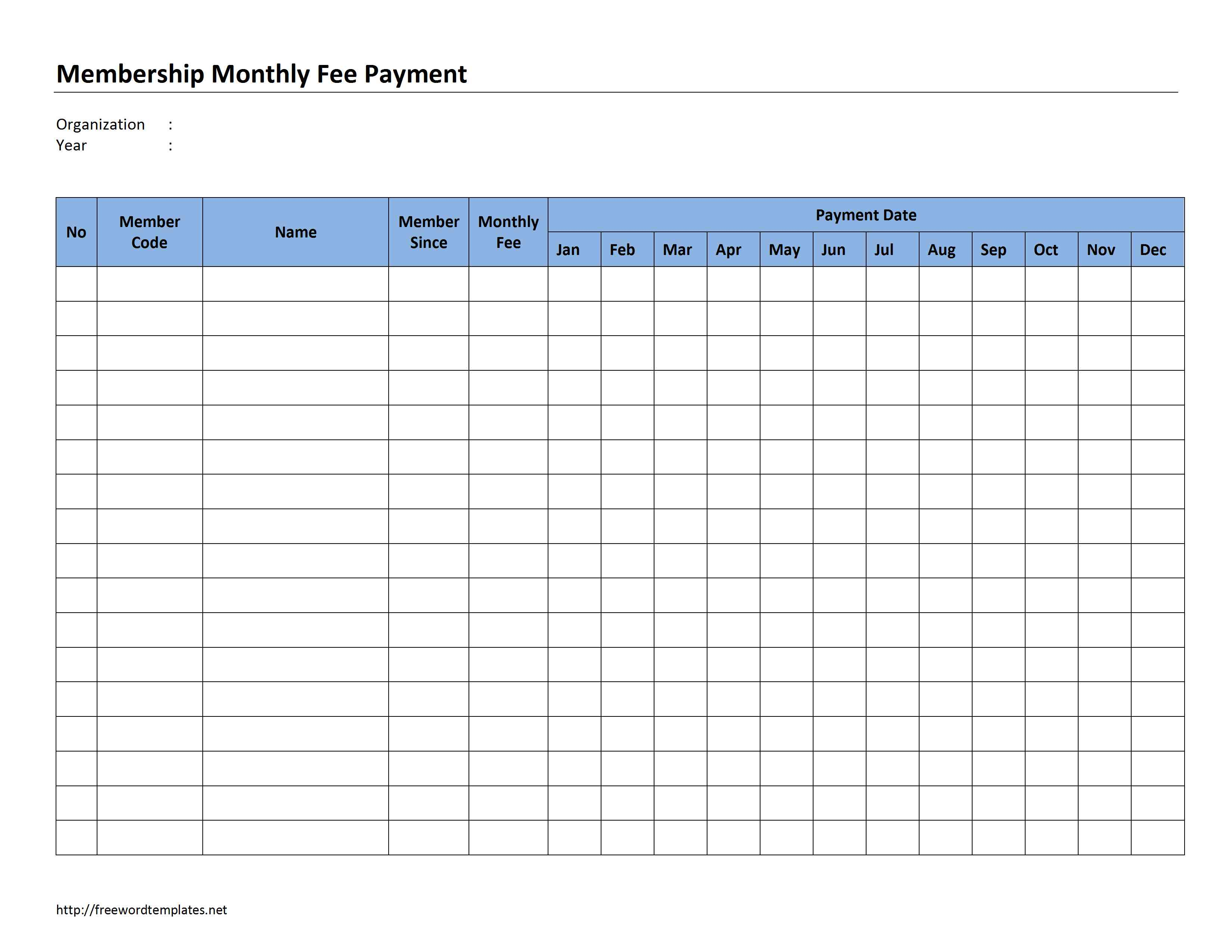 Monthly Invoice Template Invoice Example