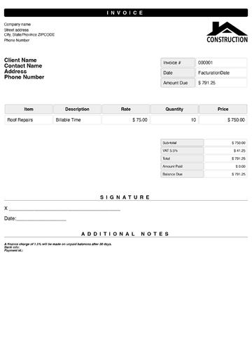 quick invoice template