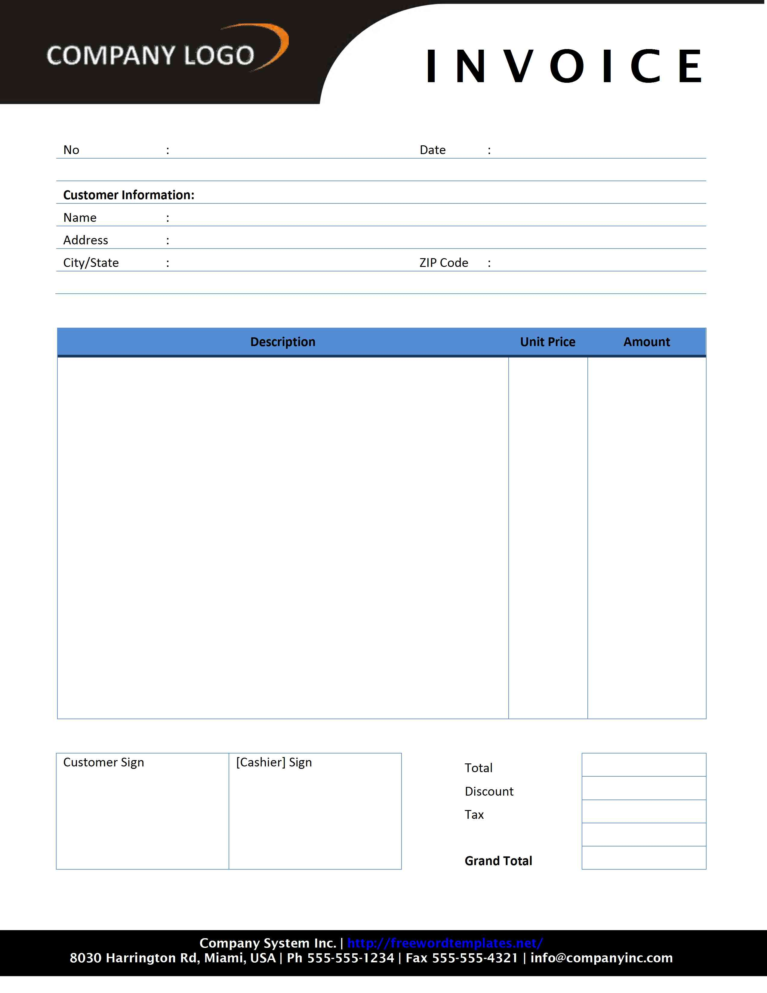 invoice sample australia