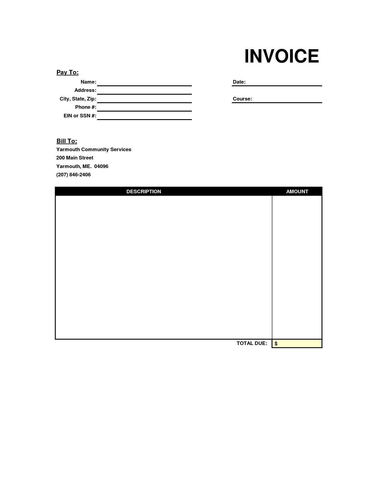 Simple Invoice Template Pdf | invoice example