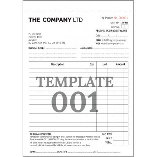 tax invoice template nz