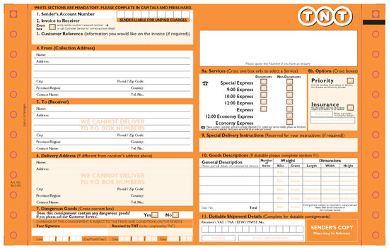 Tnt Commercial Invoice Template Invoice Example