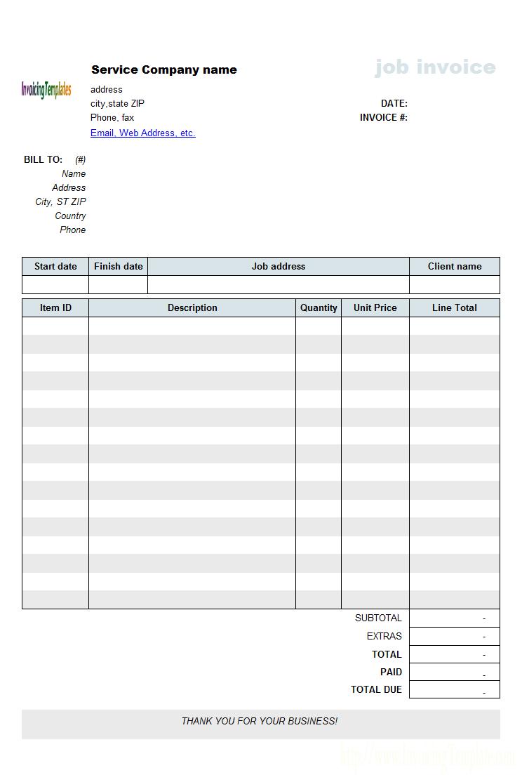 work invoice template pdf invoice example