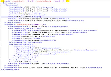 xml invoice template invoice example